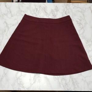 NWOT Loft Burgundy Circle/Skater Skirt